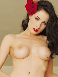 Dita Von Teese nude shows tits and pussy