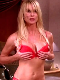Nicollette Sheridan paparazzi bikini shots and topless movie caps