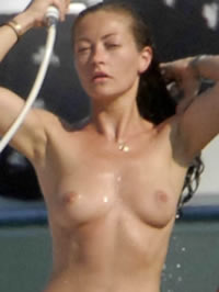 Rebecca Gayheart topless beach tanning pics