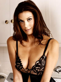 Teri Hatcher posing in hot lingerie