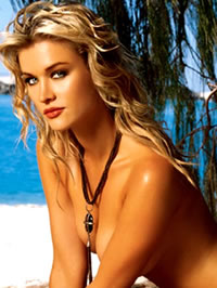 Joanna Krupa topless beach photoshot
