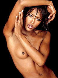 Supermodel Naomi Campbell completely nude