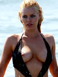 Sophie Monk topless movie caps and paparazzi nipple slip