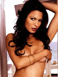 Nadine Velazquez topless with hand on nipples