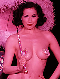 Dita Von Teese cleavage & topless on stage