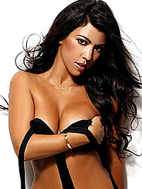 Kourtney Kardashian big boobs in bikini