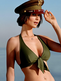 Catherine Bell bikini and lingerie shots
