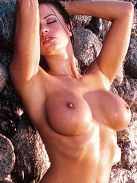 Candice Michelle big boobs and shaved pussy
