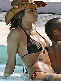 Cheryl Cole nipple slip and bikini shots