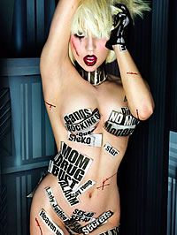 Lady Gaga nude and upskirt shots