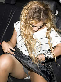 Beyonce Knowles cleavage and upskirt photos