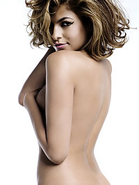Eva Mendes posing fully naked for magazine
