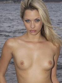 Jessica-Jane Clement topless beach photoshot