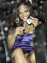 Christina Milian fantastic ass in blue spandex and upskirt shots
