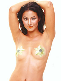 Emmanuelle Chriqui wearing see-through top