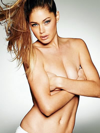 Doutzen Kroes looks stunning in sexy lingerie and topless shots