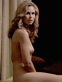 Anna Hutchison has champagne poured all over her naked rack