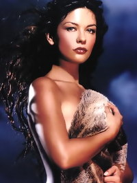 Hot Babe Catherine Zeta Jones Topless