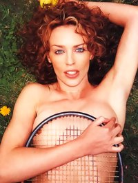 Sexy Kylie Minogue caught topless by paparazzi