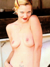 Actress Drew Barrymore Naked