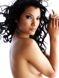 Kelly Hu Posing Topless