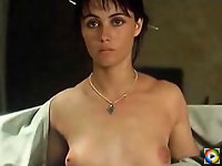 Emmanuelle Beart reveals her hot hairy pussy