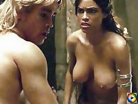 Big tits Rosario Dawson in a steamy sex scene