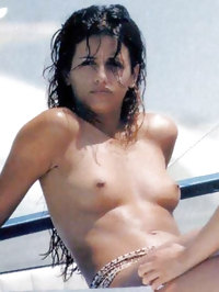 Monica Cruz paparazzi topless beach shots
