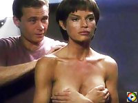 Jolene Blalock undressed and shows her big boobs on film