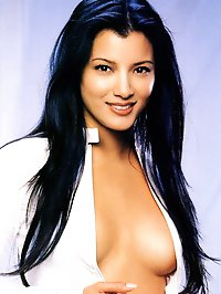 Kelly Hu topless and glamour shots
