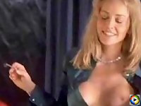 Sharon Stone gets drunk with a lesbian friend
