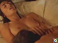 Elizabeth Hurley topless sucking on ice cube and gets fucked real hard