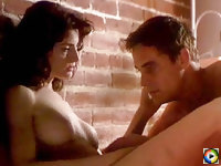 Joan Severance exposed her nice boobs and gets fucked by lucky fellow
