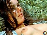 Barbara Hershey topless getting tits squeezed