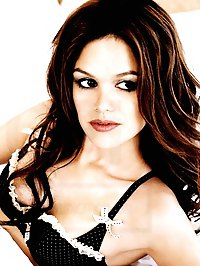 Rachel Bilson posing in tight top and lingerie
