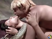Lucy Liu naked having hot sex with a blond man