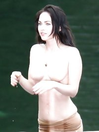 Megan Fox showing her nice boobs