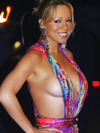 Mariah Carey shows her amazing boobs and nice butt
