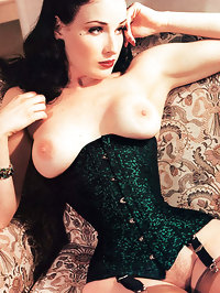 Dita Von Teese Shows Her Nice Boobs and Pussy