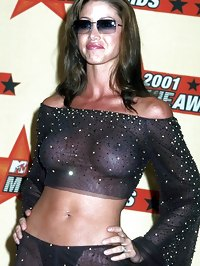 Shannon Elizabeth nude and in see through dress