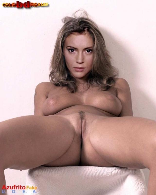 milano nude celeb fakes Alyssa