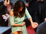 Eva Longoria upskirt at the 'Jimmy P' premiere in Cannes