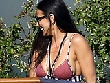 Demi Moore paparazzi bikini and see through photos