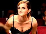 Emma Watson gets fingered and showing off cleavage