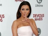 Eva Longoria shows her big boobs in a tube outfit