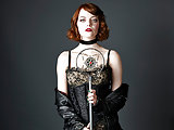 Emma Stone see-through blouse and in sexy lingerie