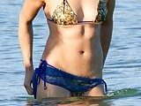 Michelle Rodriguez pubic hair at the beach