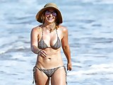 Hilary Duff in sexy bikini at the beach