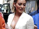 Hilary Duff in bikini and nipslip in public