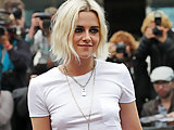 Kristen Stewart see-through shirt in public